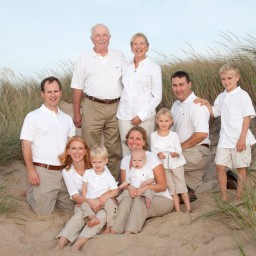 Generational Cape Cod family portrait on the beach