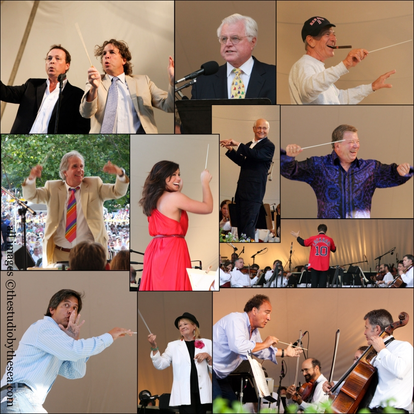 Guest conductor collage at Pops