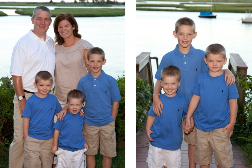 Mom and dad and 3 sons