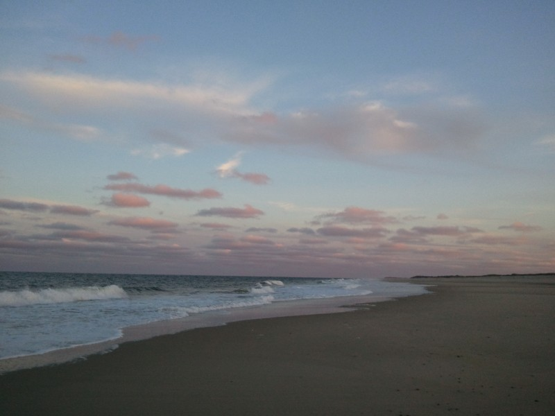 Ocean and clouds at dusk