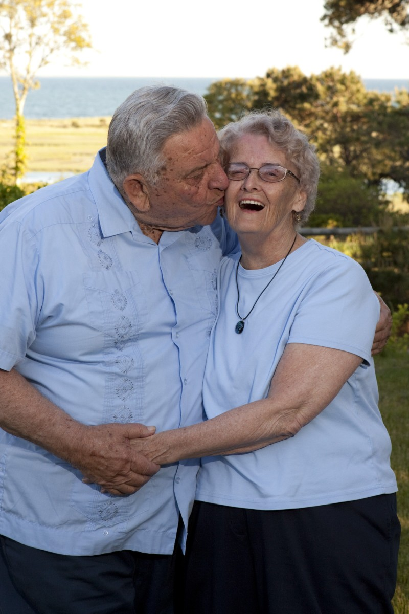 Older couple portrait