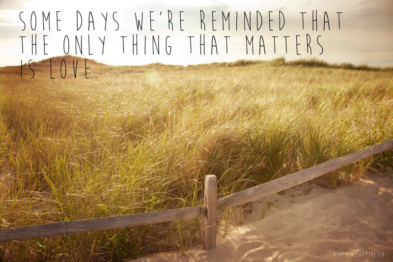 Dunes with love quote