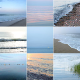 collage of images of the sea